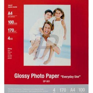 """0775B001 - A4 - CANON CANON Papier Photo Glacé """"Usage économique A4, 200g/m2 - 100 feuilles (GP-501)"""