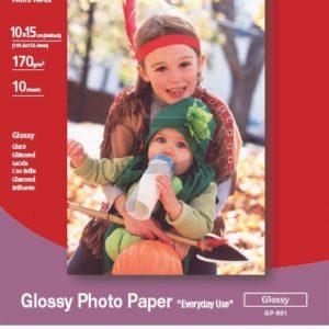 """0775B003 - 10x15cm - CANON Papier Photo Glacé """"Usage économique, 10 x 15 cm - 100 Feuilles - 200g/m2 GP-501"""