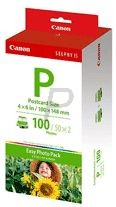 0911506H - CANON Easy Photo Pack E-P100, 100 carte postale 100x148mm + cartouches couleur