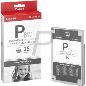 0911507H - CANON Easy Photo Pack E-P25BW, 25 carte postale 100x148mm (Noir Et Blanc Uniquement)