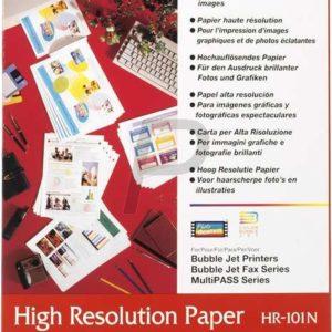1033A001 - A4 - CANON Papier à haute resolution, 105g/m2 HR101NA4 - 200 feuilles