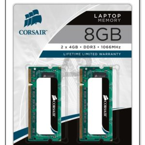 15799 - DDR3  8GB [2x4GB] DDR1066 (PC3-8500) SO-DIMM Notebook - CORSAIR [CM3X8GSDKIT1066]