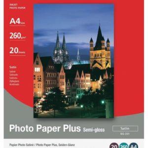 1686B021 - A4 - CANON Papier Photo Satiné SG-201 [20 feuilles ]