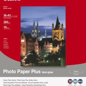 1686B029 - 36x43cm - CANON Papier Photo Satiné SG-201 [10 feuilles ]