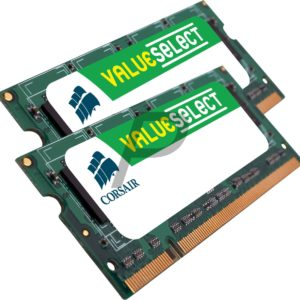17477 - DDR2 4GB [2x2GB] DDR800 (PC2-6400) SO-DIMM Notebook - CORSAIR [VS4GSDSKIT800D2]