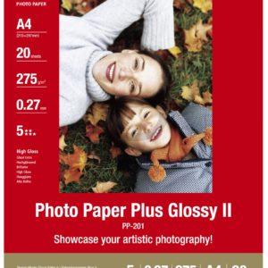 2311B019 - A4 - CANON Papier Photo Glacé Extra II PP-201 260 g/m² - [20 feuilles ]