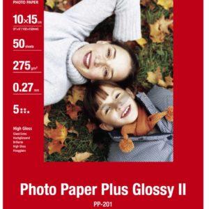2311B053 - 10x15cm - CANON Papier Photo Glacé Extra II PP-201 260 g/m² - [5 feuilles ]