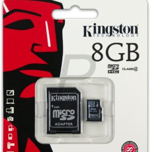 25161 - MicroSDHC Memory Card   8000MB ( 8GB ) KINGSTON Class 4 [SDC4/8GB]