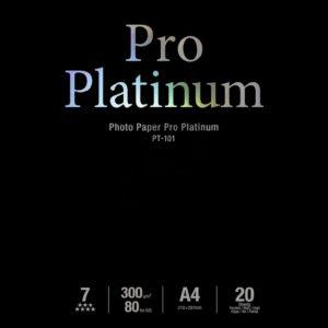 2768B016 - A4 - CANON Papier Photo Pro Platinum PT-101 - 20 feuilles