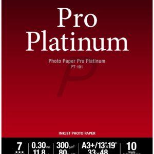 2768B018 - A3+ - CANON Papier Photo Pro Platinum PT-101 - 10 feuilles