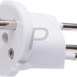 322370 - Adaptateur Prise EU > CH à usage unique - Blanc