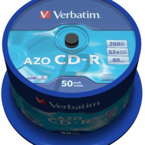 33515 - CD-R Disk 700MB - 50CD - 52x VERBATIM Spindle AZO Crystal