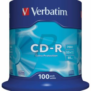 33747 - CD-R Disk 700MB - 100CD - 52x VERBATIM Spindle Extra Protection