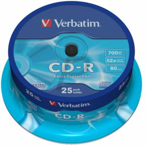 33750 - CD-R Disk 700MB - 25CD - 52x VERBATIM Spindle Extra Protection