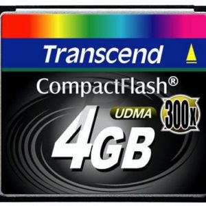 36853 - Compact Flash   4000MB (4GB) - TRANSCEND 300x [TS4GCF300]