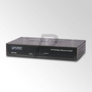 37584 -  5 Ports PLANET FSD-503 10/100Mbps Ethernet Desktop Switch (Metal)
