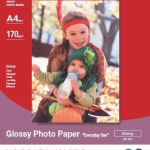 775B076 - A4 - CANON Papier Photo Glacé « usage quotidien » GP-501 [5 feuilles ]