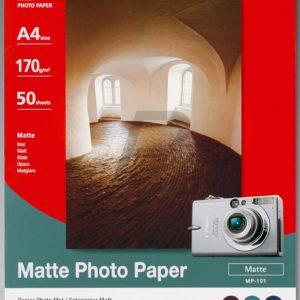 7981A005 - A4 - CANON Papier photo mat[ 170g/m2 50 feuilles, MP-101, A4 ]