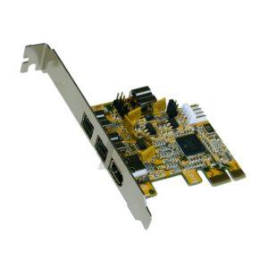 A26K20 - EXSYS EX-16415 - Carte PCI-Express FireWire 1394B avec 3+1 Port