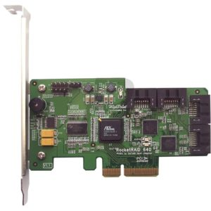 B01D31 - HIGHPOINT RocketRAID 640 Series 4 Port SATA 6Gb/s RAID PCI-Ex4