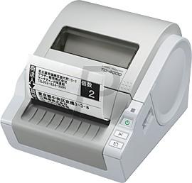 B04J04 - BROTHER P-Touch TD-4000 Imprimante d'étiquettes Reconnaissance automatique du ruban