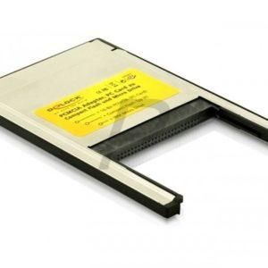 B08E91 - DELOCK Card Reader 2 in 1 Compact Flash I/II - IBM Microdrive Typ II PC Card [91052]