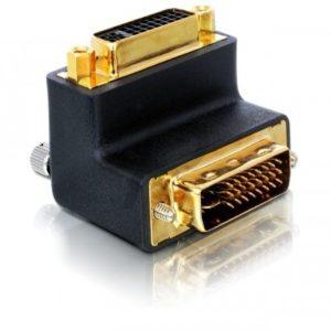 B08E96 - Adaptateur DVI 29pin male-female right angled DELOCK [65173]