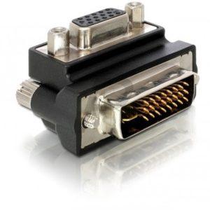 B08E97 - Adaptateur VGA female > DVI 29pin male 90° right angled DELOCK [65172]