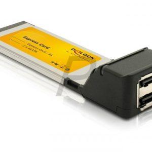B24A09 - DELOCK ExpressCard 34 mm eSATA II 2 ports [61386]