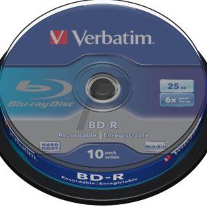 C07A13 - BD-R Blu-Ray  25GB - 10 pièces - VERBATIM speed 6X - [ Spindle ] (43742)