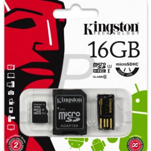 C07F17 - MicroSDHC Memory Card  16000MB ( 16GB ) KINGSTON Class 10 [MBLY10G2/16GB] Mobility Kit