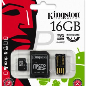 C07F18 - MicroSDHC Memory Card  16000MB ( 16GB ) KINGSTON Class 4 [MBLY4G2/16GB] Mobility Kit