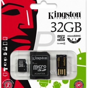 C07F19 - MicroSDHC Memory Card  32000MB ( 32GB ) KINGSTON Class 4 [MBLY4G2/32GB] Mobility Kit