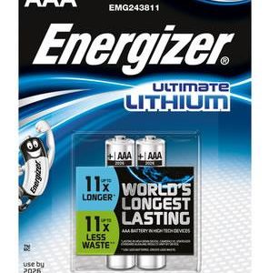 C08D33 - AAA - LR03 ENERGIZER ULTIMATE LITHIUM 2x AAA