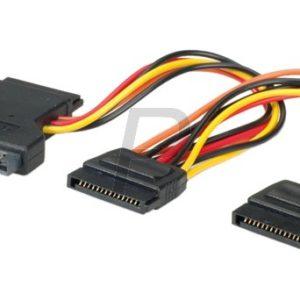 C17F33 - Câble alimentation SATA en Y : 1x15pin –> 2x15pin (M-F)