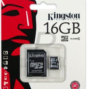 C28X05 - MicroSDHC Memory Card  16000MB (16GB ) KINGSTON Class 4 [SDC4/16GB]
