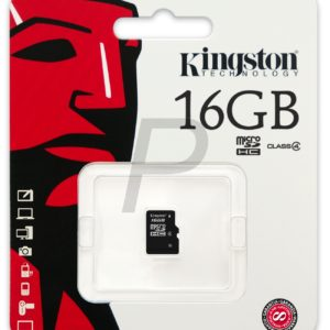 C28X06 - MicroSDHC Memory Card  16000MB ( 16GB ) KINGSTON Class 4 [SDC4/16GBSP]