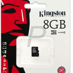 C28X12 - MicroSDHC Memory Card   8000MB ( 8GB ) KINGSTON Class 4 [SDC4/8GBSP]