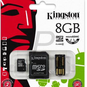 C28X13 - MicroSDHC Memory Card   8000MB ( 8GB ) KINGSTON Class 4 [MBLY4G2/8GB] Mobility Kit