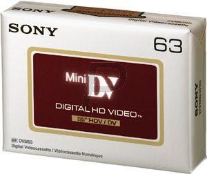 DV-M63HD - SONY Cassette Sony MiniDV 63 minutes haut de gamme avec technologie d'évaporation