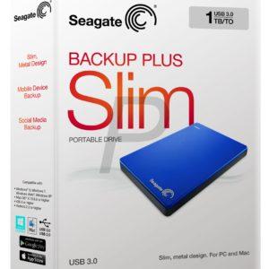 "E05K12 - Disque 2.5"" externe 1.0To (1000GB) - SEAGATE Backup Plus Slim Portable USB 3.0 [STDR1000202] - Blue"