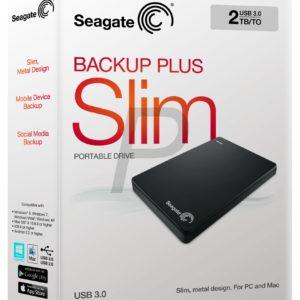 "E05K15 - Disque 2.5"" externe 2.0To (2000GB) - SEAGATE Backup Plus Slim Portable USB 3.0 [STDR2000200] - Black"