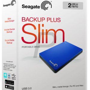 "E05K16 - Disque 2.5"" externe 2.0To (2000GB) - SEAGATE Backup Plus Slim Portable USB 3.0 [STDR2000202] - Blue"