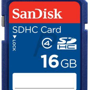 E10G10 - SD HC Memory Card  16000MB (16GB ) - SANDISK Class 4
