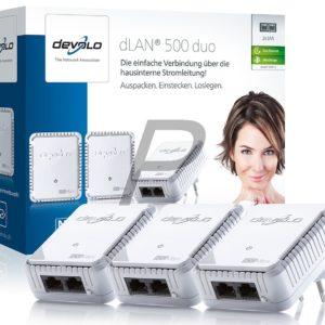 E14B18 - DEVOLO dLAN 500 duo Network Kit [9112] (Suisse & Europe)