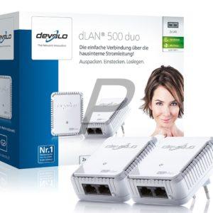 E14B20 - DEVOLO dLAN 500 duo Starter Kit [9111] (Suisse & Europe)