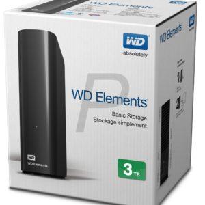 E20H19 - Disque externe  3.0To (3000GB) WESTERN Elements [WDBWLG0030HBK-EESN]