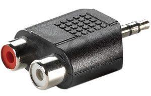 E24A11 - Adaptateur 3,5mm (1x M, 2x RCA F)
