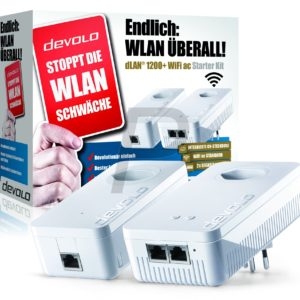 F01J02 - DEVOLO dLAN 1200+ WiFi ac Starter Kit Powerline [9395] (Suisse)