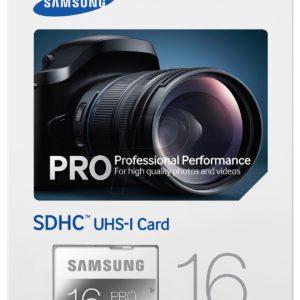 F02E18 - SD HC Memory Card  16000MB (16GB ) - SAMSUNG Pro UHS-I 90 MB/s [MB-SG16D]